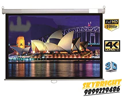 Skybright Motorized Projector Screen Size -8Ft X 6Ft: Amazon