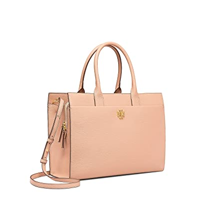 c2a40d182b44 Amazon.com  Tory Burch Kira Tote (Perfect Sand)  Shoes