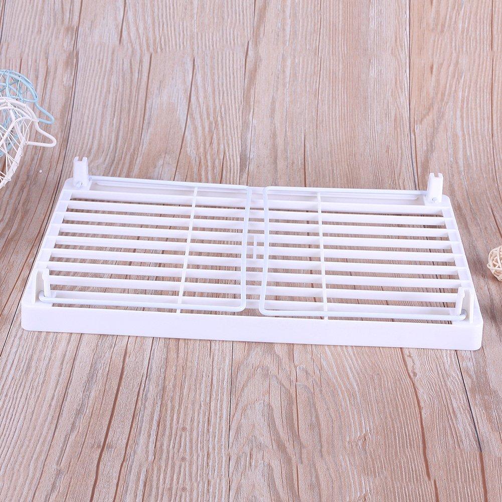 CALISTOUK 1PC Draining rack Multi Superposition Snap Type Foldable Kitchen Desk Sundry Storage Rack