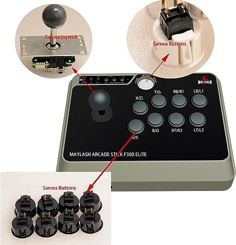 MAYFLASH Arcade Stick F300 Elite pour PS4 / PS3 / XBOX ONE / XBOX 360 / PC / Android / Switch: Amazon.es: Videojuegos