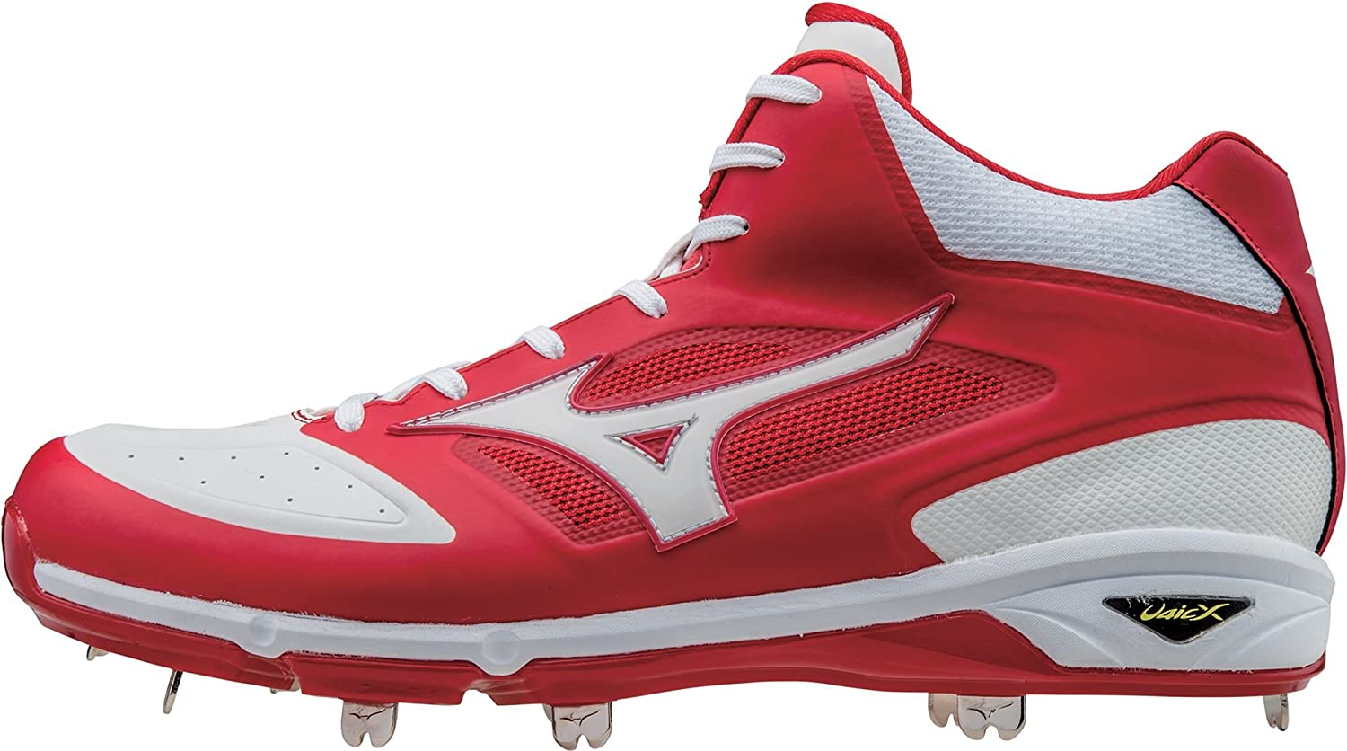 ミズノ スポーツ 野球 シューズ MIZUNO Men's Dominant IC Metal Mid Baseb RedWhite [並行輸入品] B07313R65Y 10.5
