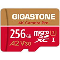 Gigastone 256GB Micro SD Card, 4K Camera Pro, 4K Video Recording for GoPro, Action Camera, DJI, Drone, R/W up to 100/60…