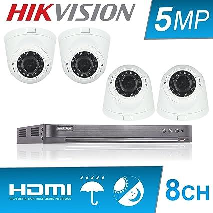 Hikvision 5 MP CCTV sistema 8 ch HDMI DVR H.265 + HD 4 K