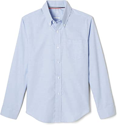 French Toast Boys Long Sleeve Oxford Shirt School Uniform Button Down Shirt