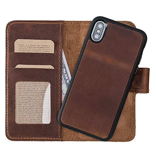 new concept 39a4d 4adbb Amazon.com: iPhone X Wallet, iPhone X Magnet Wallet, Case For iPhone ...
