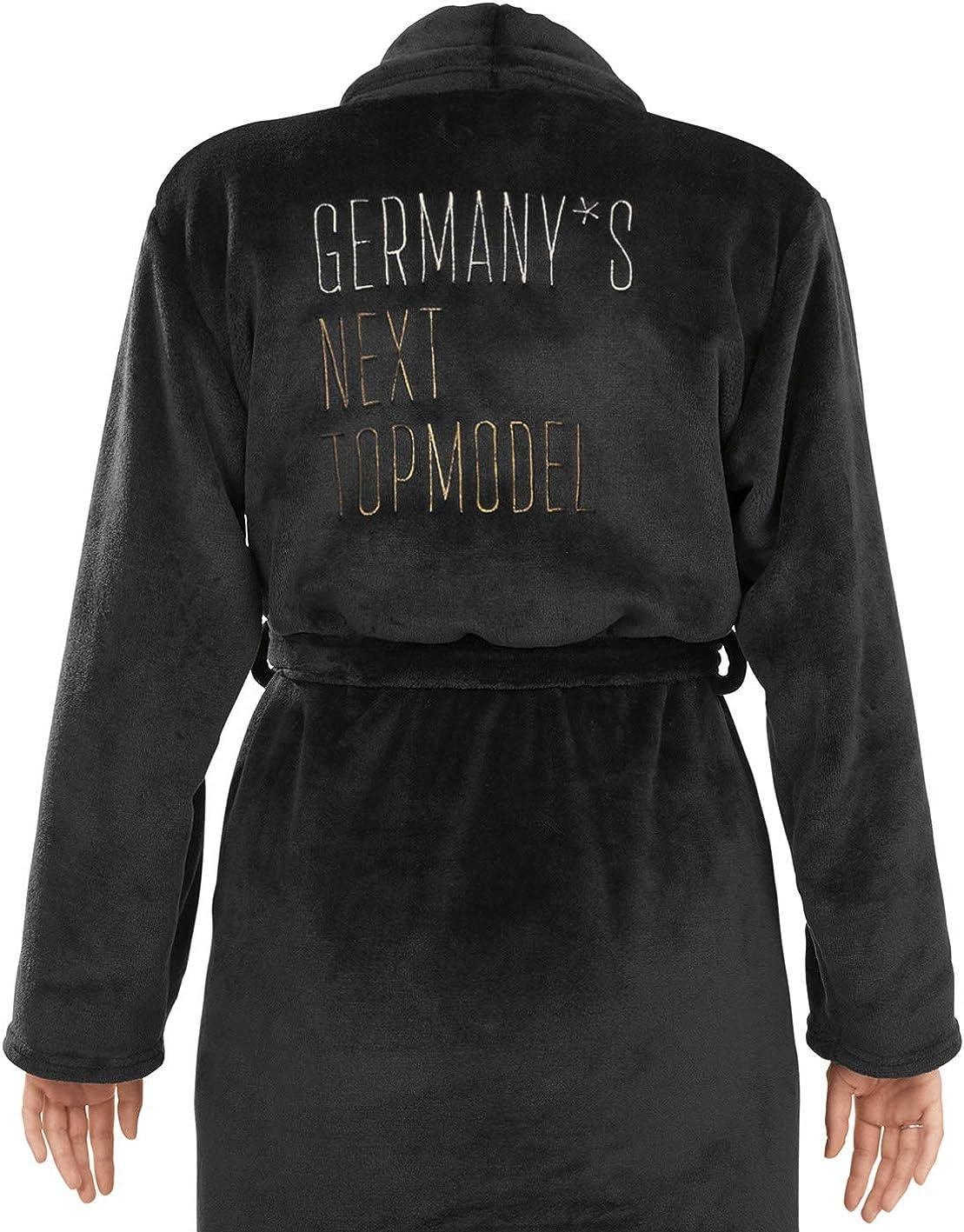 Germanys Next Topmodel Design Elegante Colore: Nero Accappatoio da Donna