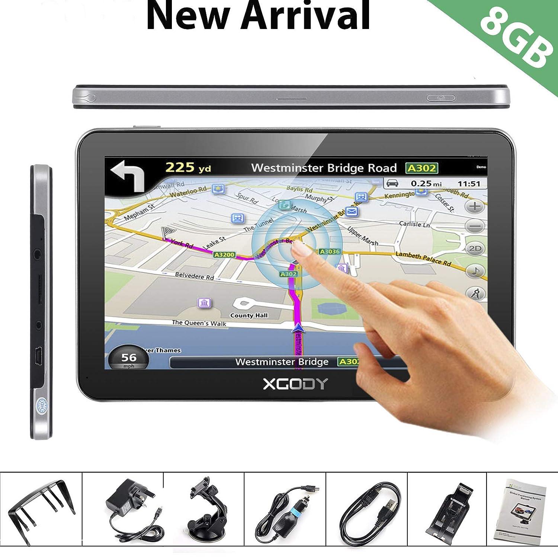 Xgody 704 sistema di navigazione GPS per auto touchscreen capacitivo 17,8 cm 8 GB ROM navigatore satellitare