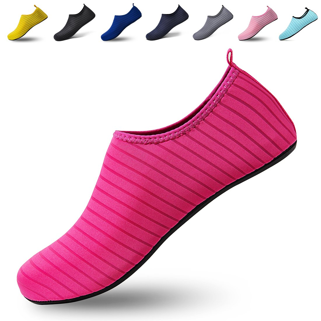 Lauwodun Unisex Water Shoes Quick Dry Barefoot Aqua Sock Men Women Beach Pool Swim Surf Yoga Exercise
