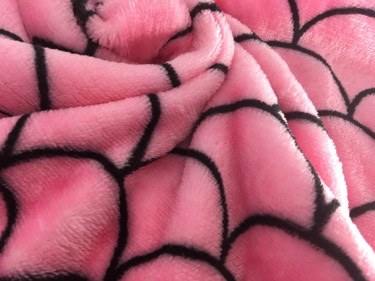 Pink + Blue M Size Mermaid Tail Blanket By MeliMe Soft and Cozy Flannel Fish Scales Tail Sleeping Bag Mermaid Idea for Children and Kids 3-13Y MeliMe Top