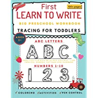 Big Letter tracing for Preschools and Toddlers: First learn to write workbook for ages 3+. Practice for kids with pen…