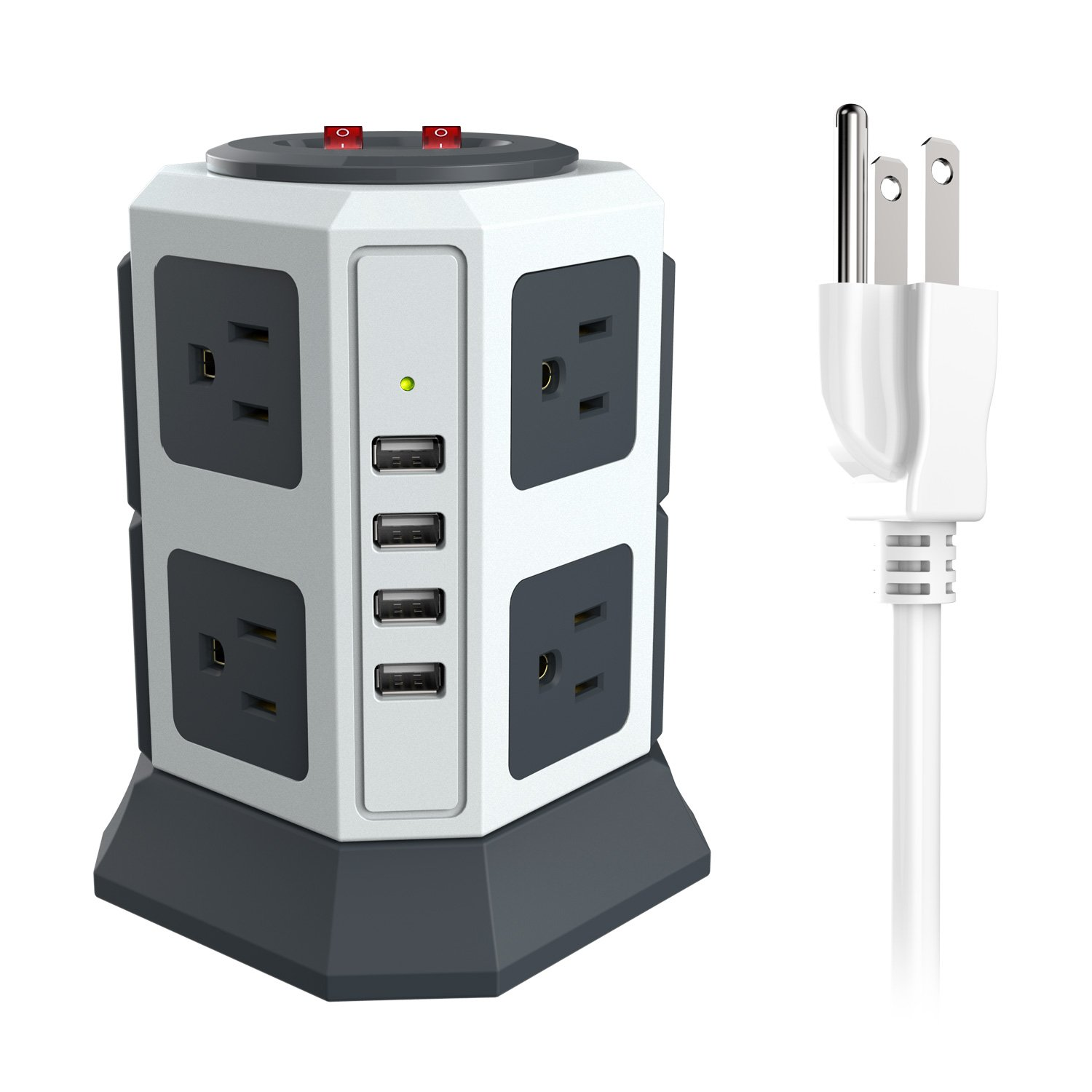 Vertical Power Strip With 4 Usb Ports 8 Outlets Up To A Bar By Cutting The Plug Off Of Powerbar No Idea As I Tower Surge Protector 6ft 14awg Long Cord 5v 24a Home Improvement