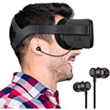 KIWI design Stereo Earbuds Earphones Custom Made for Oculus Quest VR Headset (Black,1 Pair)
