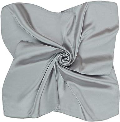 HIDOUYAL Damen Seide Bandana Schal Einfarbig Halstuch Kopfschal 52cmx52cm