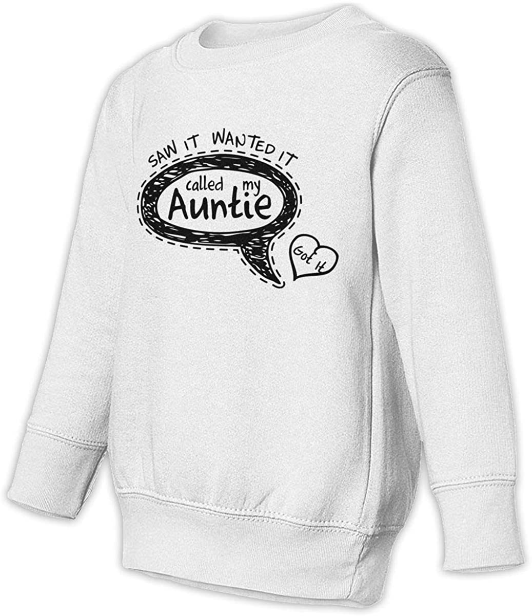 Boys Girls This Boy Loves His Auntie Teen Youth Hoody Black