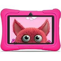 Dragon Touch Tablet para Niños con WiFi Bluetooth 7 Pulgadas 1024x600 Tablet Infantil de Android 9.0 Quad Core 2GB 16GB Doble Cámara Kid-Proof Funda Tablet Niños Educativo Y88X Pro Rosa