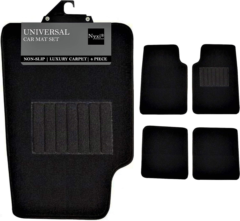 4 Stück Autoteppich Universal Anti Rutsch Für Auto Suv Lkw Und Van Schwarz Teppich Auto