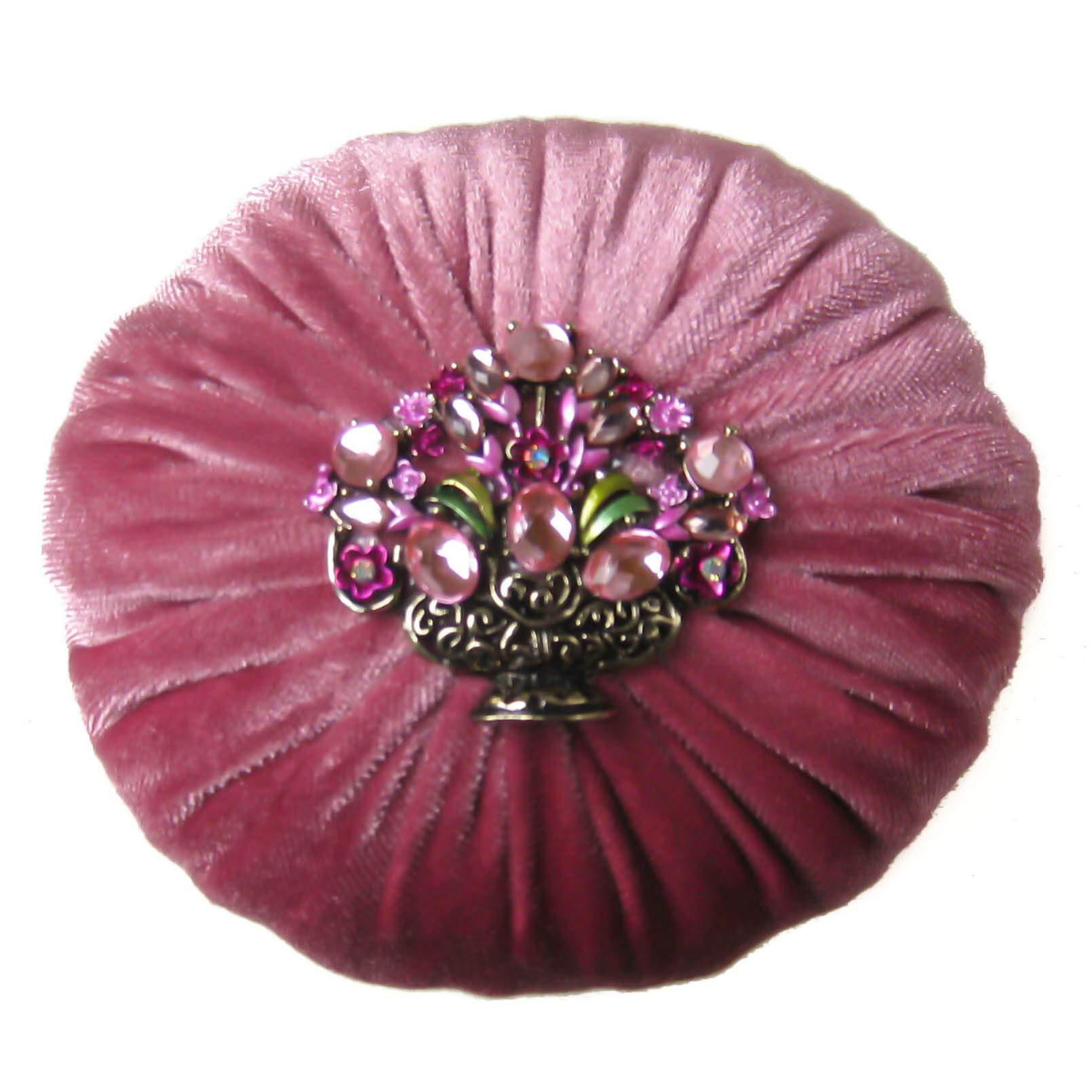 Nakpunar 4'' Mauve Pink Velvet Emery Pincushion - Keep Your Needles Clean & Sharp (4'', Mauve Pink) by Nakpunar