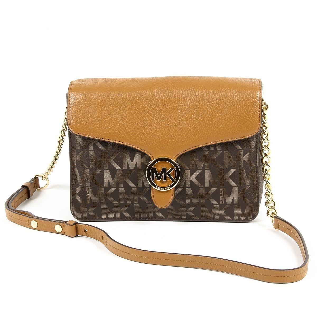 Michael kors Women's Venna Medium Shoulder Flap Leather Bag, Style 35T7GV3F2B, Brown Acorn