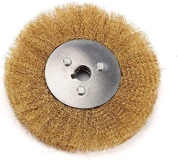 """L0T of 2 6/"""" Wire Wheel Brush 150mm Brass Coated Steel Fill bench grinder"""