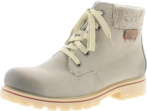 Rieker Damen Stiefeletten Beige Schuhe, Größe:39