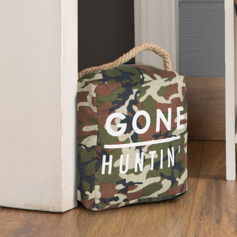 Pavilion Gift Company Open Decor-Gone Huntin Camo Door Stopper