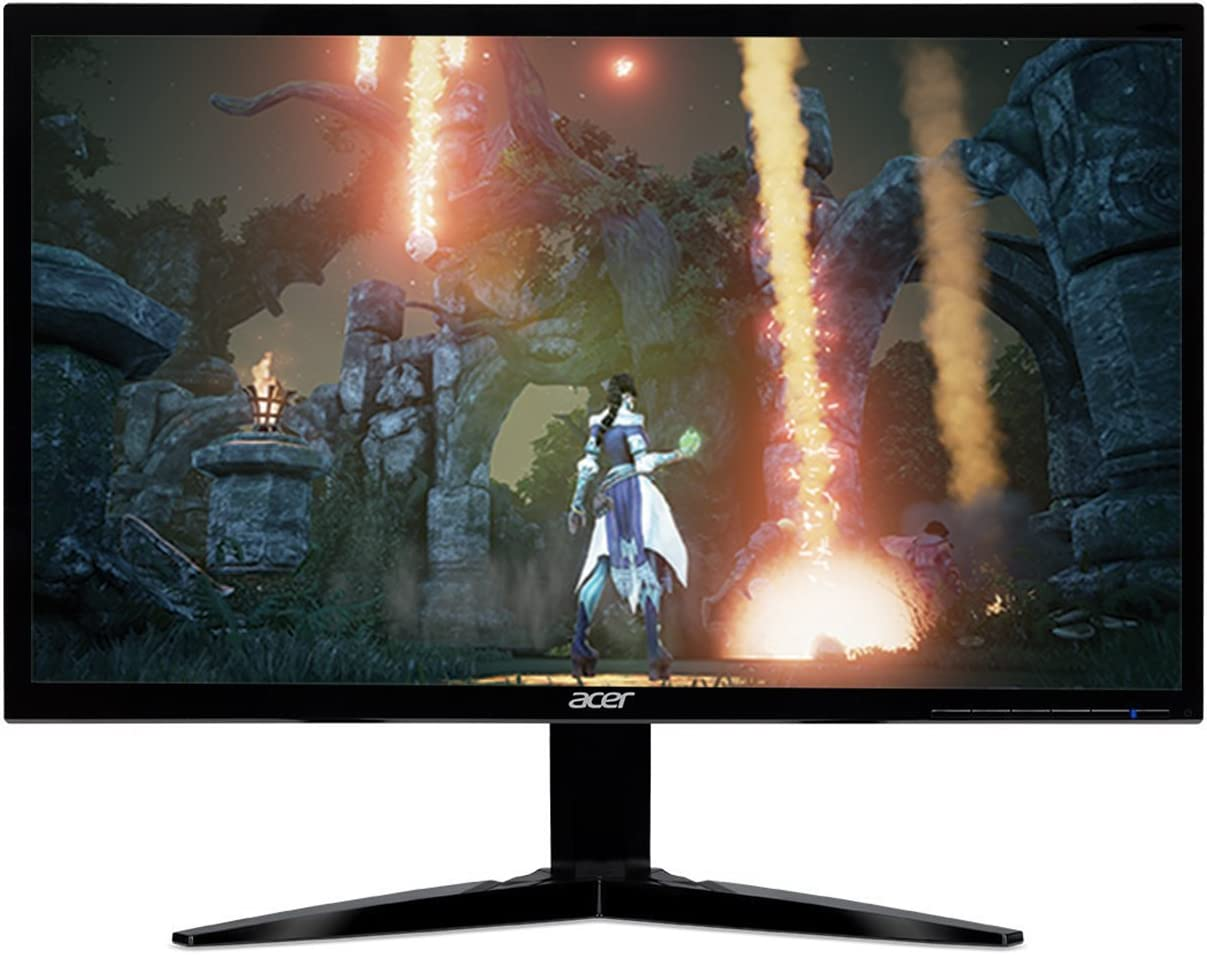 "Acer Gaming Monitor 23.6"" KG241Q bmiix 1920 x 1080 1ms Response Time AMD FREESYNC Technology (2 x HDMI & VGA Ports),Black"