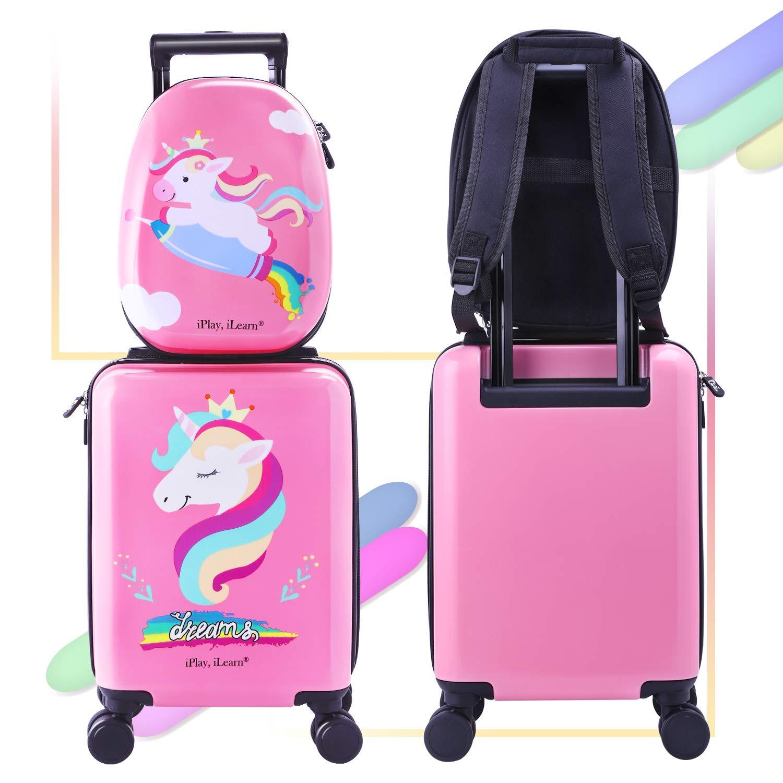 Amazon.com: Unicorn - Maleta de viaje para niños con ruedas ...