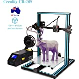 Creality CR-10S 3D Printer Kit Large Printing Size 300x300x400mm with Dual Z Axis, 1.75mm 0.4mm Nozzle with Filament Detector, Free 200g Filament, High Precision (Blue)