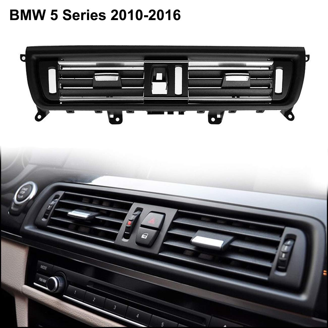 ALAVENTE Upgraded Front Air Grille Front Console Grill Dashboard AC Air Conditioning Air Vent for BMW 5 Series 520 523 525 528 530 535 F10//F11//F18