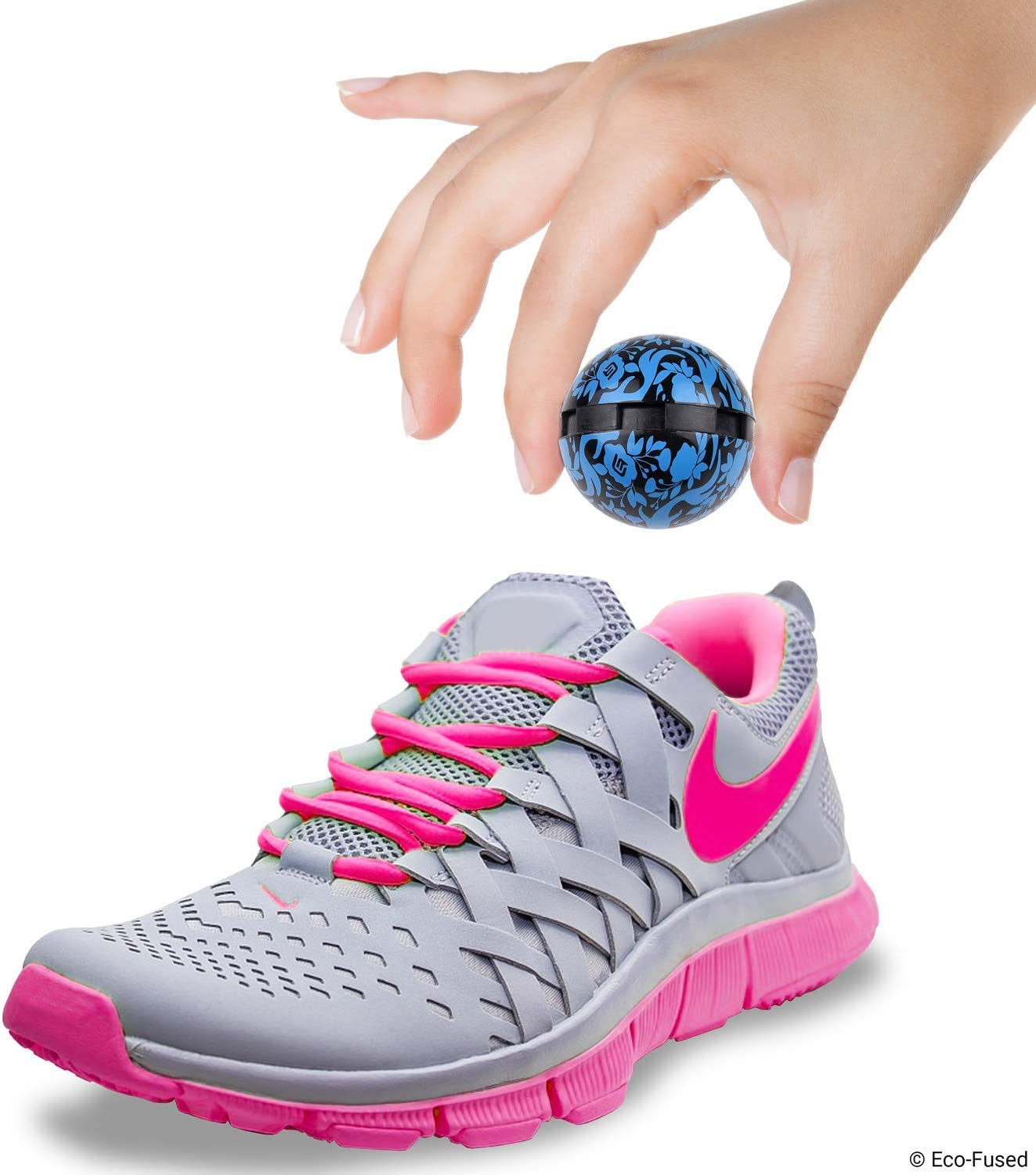 Eco-Fused Deodorizing Balls for Sneakers Also Great for Homes Neutralizes Sweat Odor Easy Twist Lock//Open Mechanism 8 Pack Gym Bags Lockers Offices and Cars Ocean Fresh