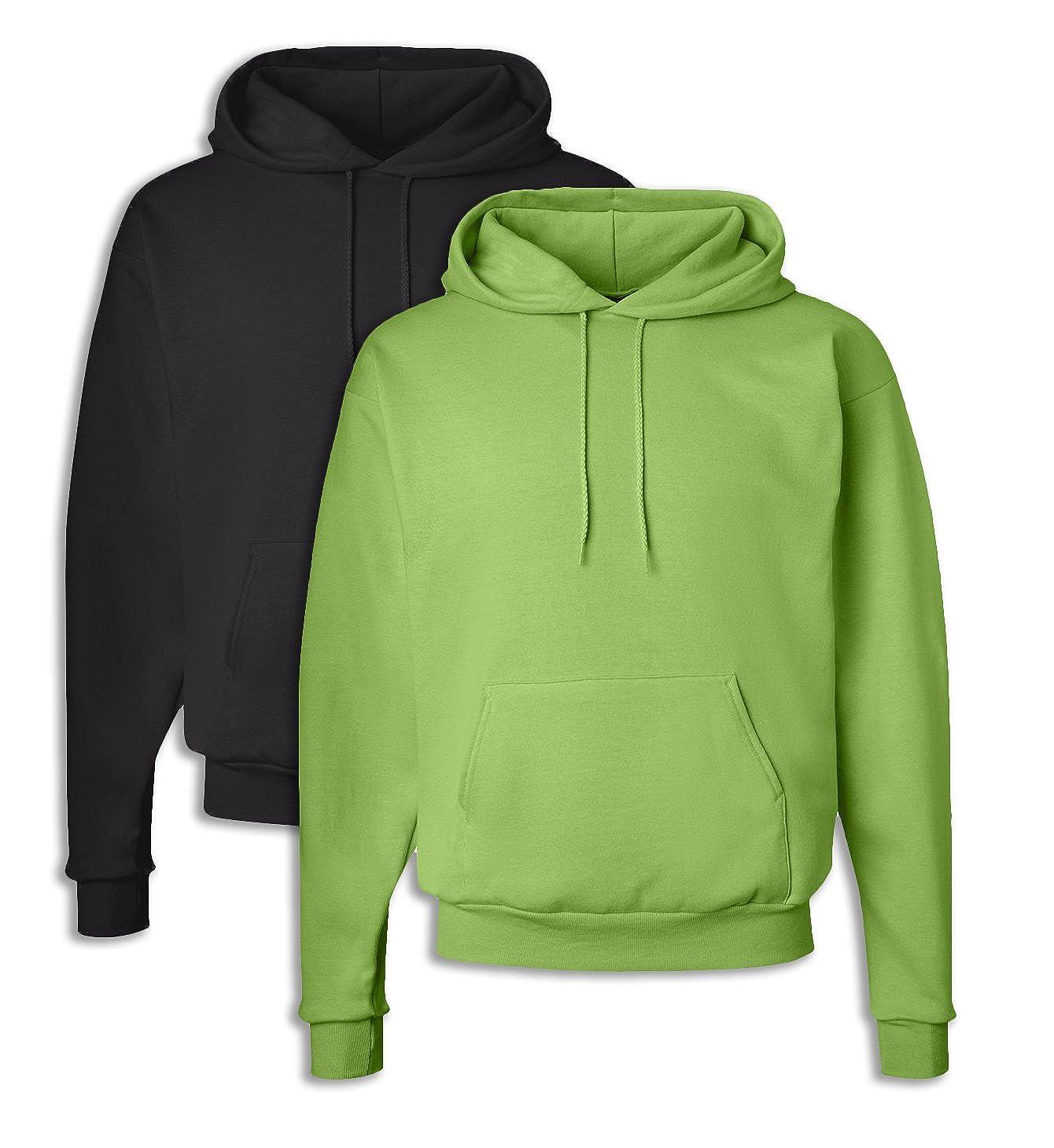 1 Lime Hanes Mens EcoSmart Hooded Sweatshirt 3XL 1 Black