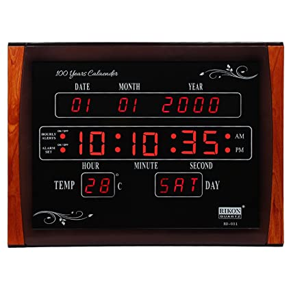 82c98d446 Image Unavailable. Image not available for. Colour  Rikon Digital Wall Clock