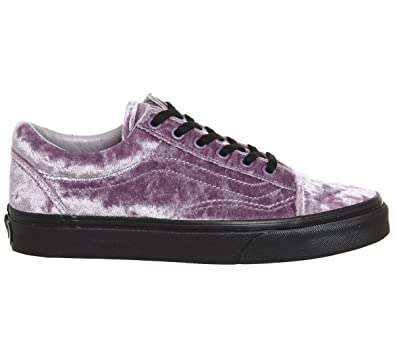 a93c2e568ff614 Vans Old Skool Velvet- Sea Fog Black Women s 7.5