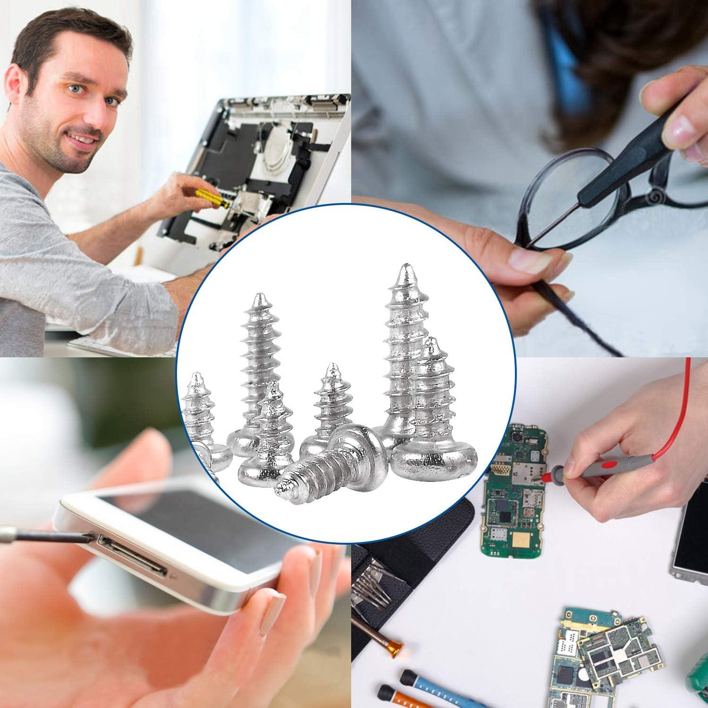 JUIDINTO PA Phillips Micro Laptop Tapping Screws Set M1 M1.2 M1.4 M1.5 M1.7 Micro Mini Wood Screw Set 1800pcs