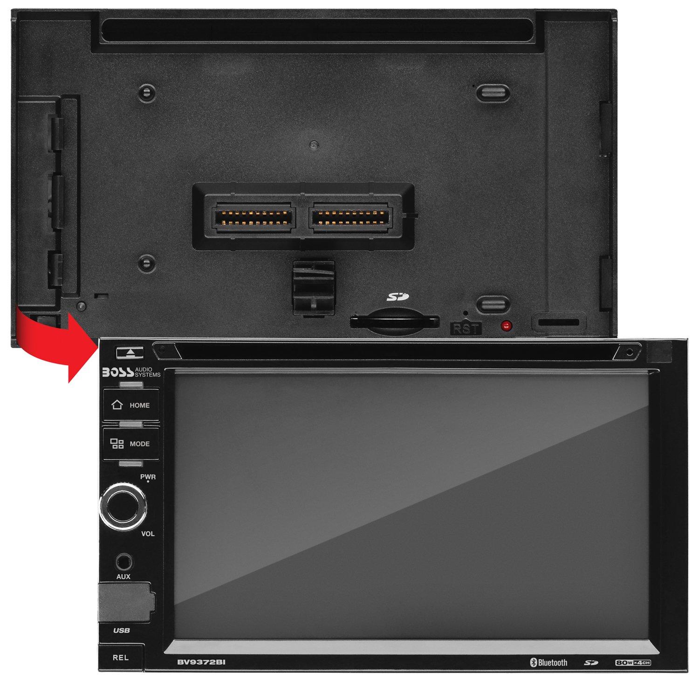 Boss Audio Bv9372bi Double Din Touchscreen Bluetooth Bv9364b Wiring Harness Dvd Cd Mp3 Usb Sd Am Fm Car Stereo 62 Inch Digital Lcd Monitor Detachable Front Panel
