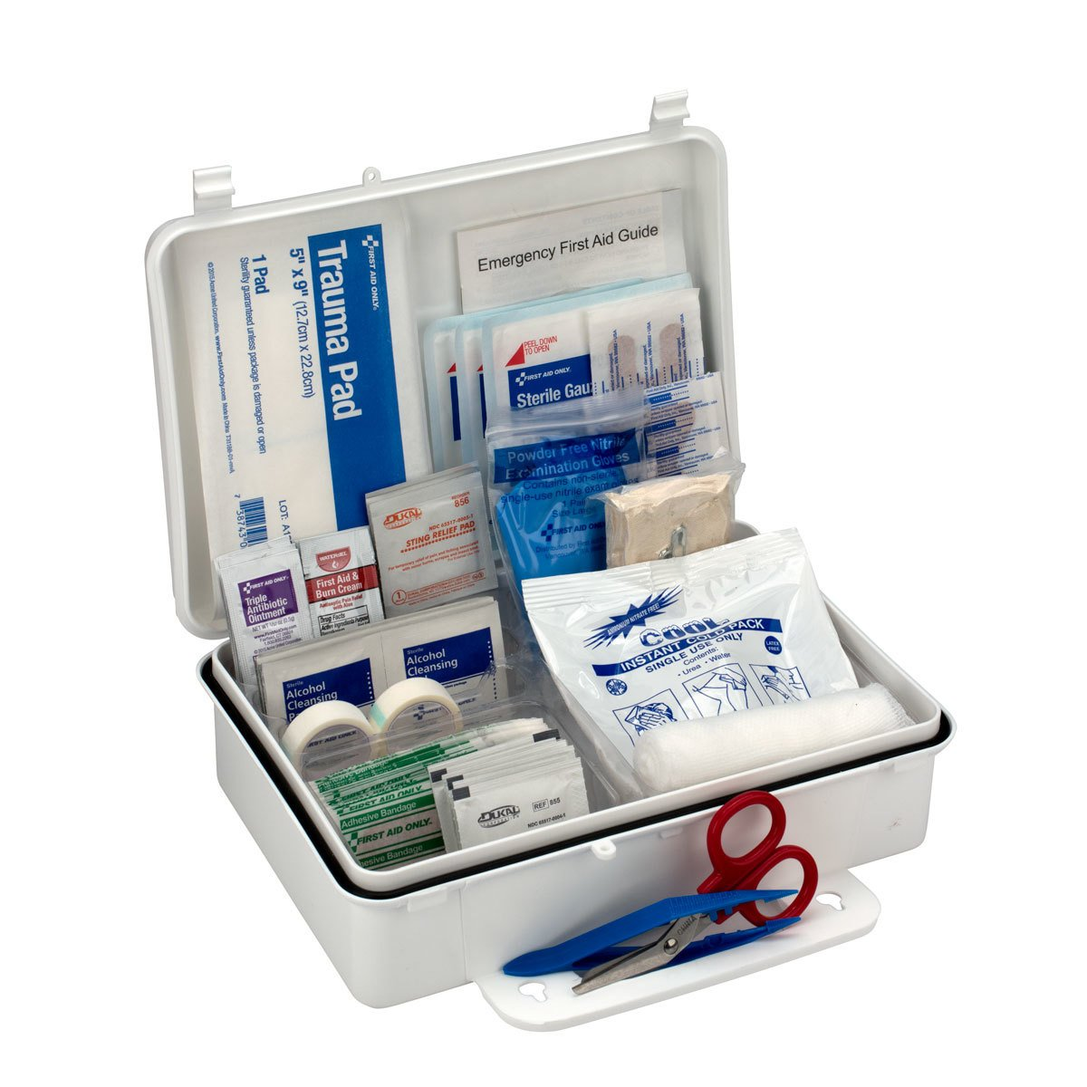 First Aid Only 25 Person OSHA First Aid Kit, Weatherproof Plastic Case