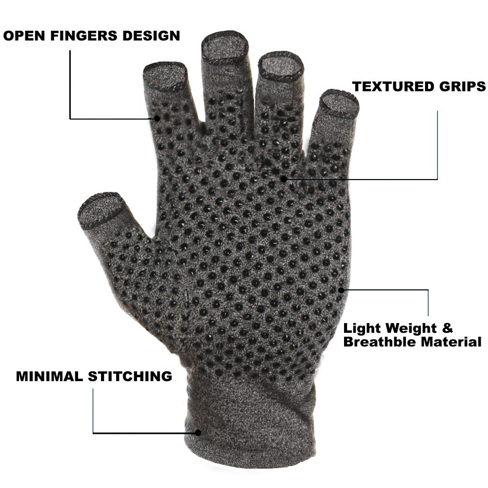 JCMD 1 Pair Arthritis Gloves Therapeutic Compression Men Woman Circulation Grip, Compression Arthritis Gloves (Medium)