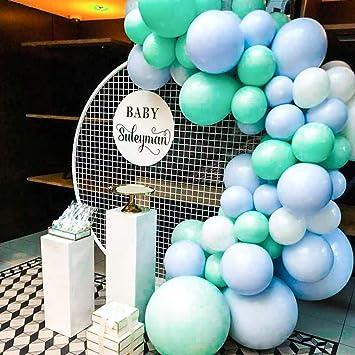 Amazon.com: PartyWoo - Globos azules y blancos (60 unidades ...
