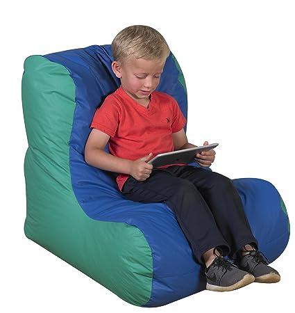Bean Bag Chair Offers Comfortable Seating For Reading Enjoyment. Vinyl,  High Back Bean