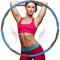 Tumax Hoelahoep Fitness, Opvouwbare Fitnessgolf Gewogen 1 kg, Secties Aanpasbaar met Zacht Schuim, Professionele Fitness…