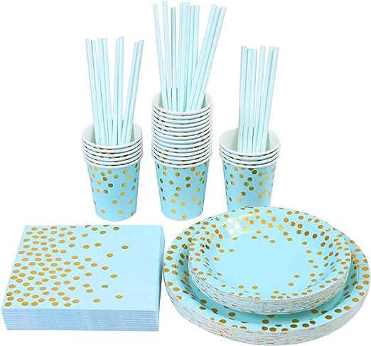 Dinner Plates 9 24//Pkg-Pastel Blue