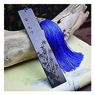 Melyaxu,Natural wood - Engraved Wood Bookmark with Tassel - Bamboo(1)