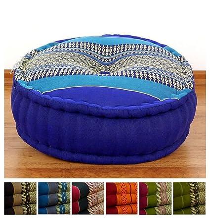 Amazon.com : Colourful Zafu Meditation Cushion 15x15x6 ...