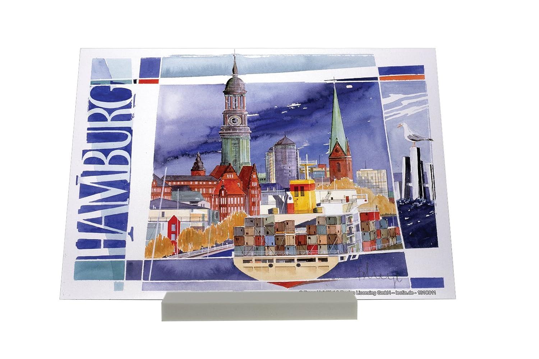 impresión del arte Soporte Fotografias Deco Ciudad F. Heigl Hamburgo Portacontenedores Letrero Decoración: Amazon.es: Hogar