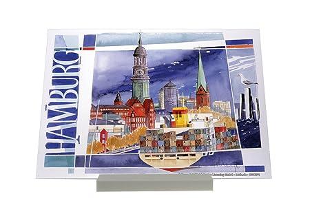 impresión del arte Soporte Fotografias Deco Ciudad F. Heigl Hamburgo Portacontenedores Letrero Decoración