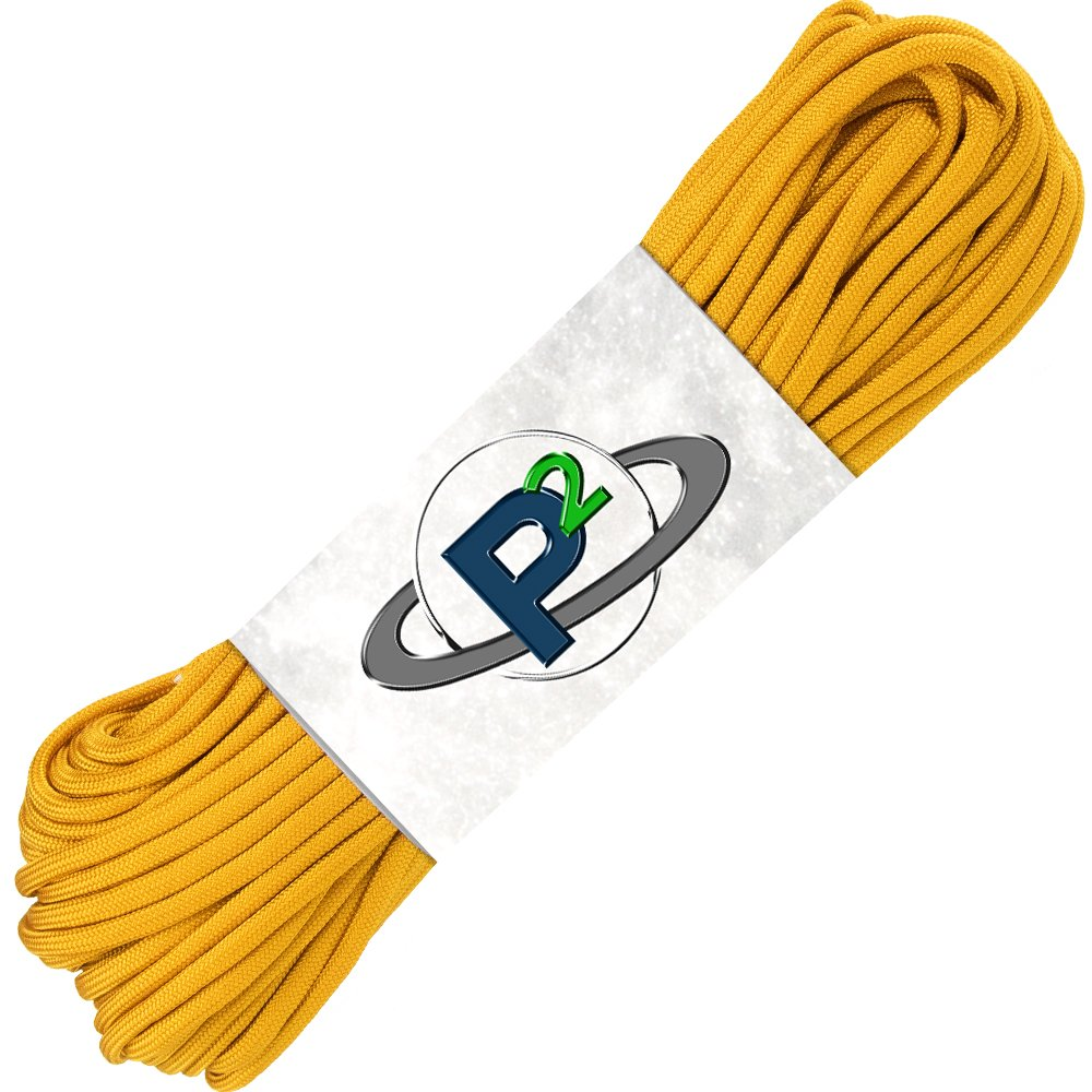 PARACORD PLANET Mil-Spec Commercial Grade 550lb Type III Nylon Paracord (Goldenrod, 100 feet) by PARACORD PLANET