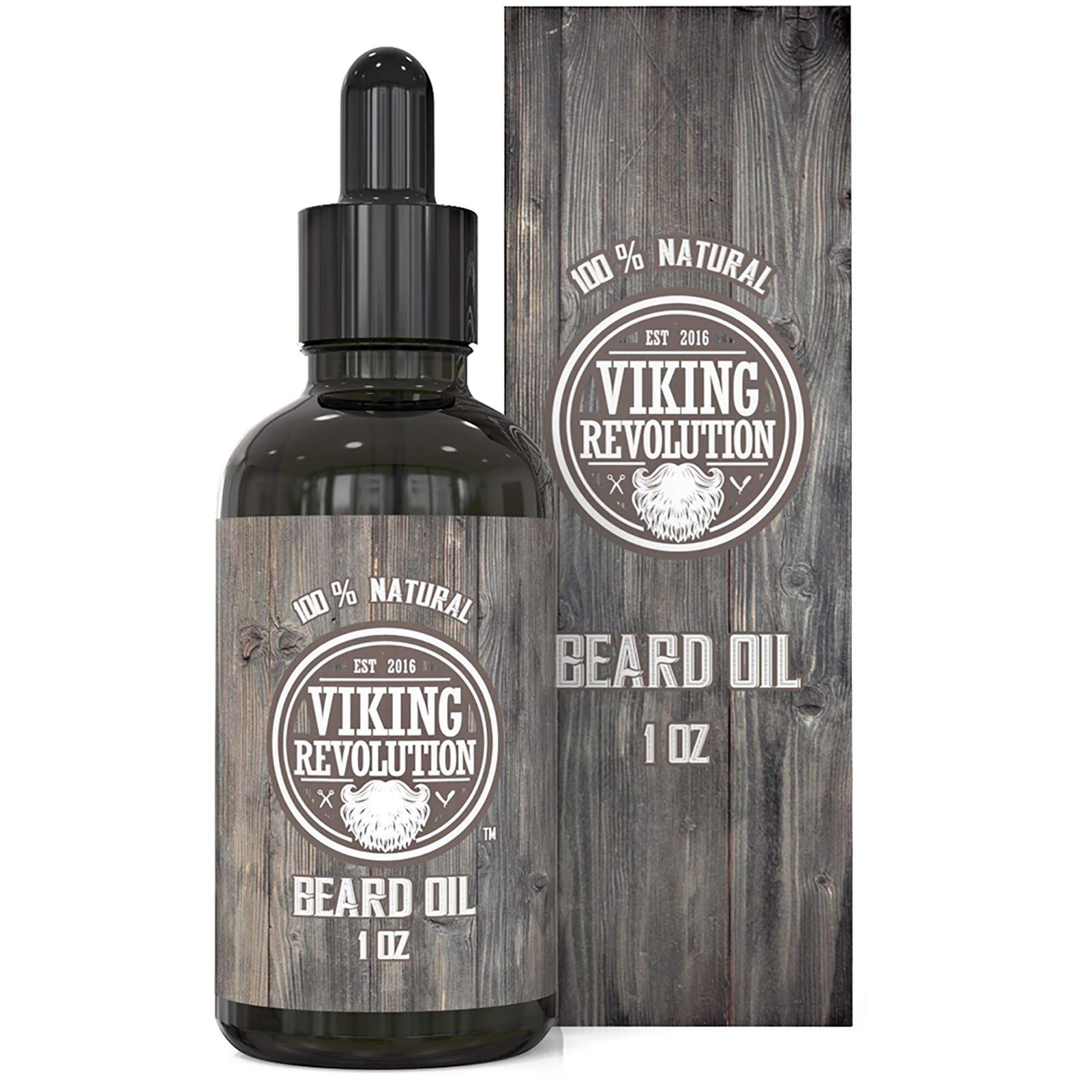 Viking Revolution Beard Oil Conditioner - All Natural Unscented Argan & Jojoba Oils – Softens, Smooths & Strengthens Beard Growth – Grooming Beard and Mustache Maintenance Treatment, 1 Pack