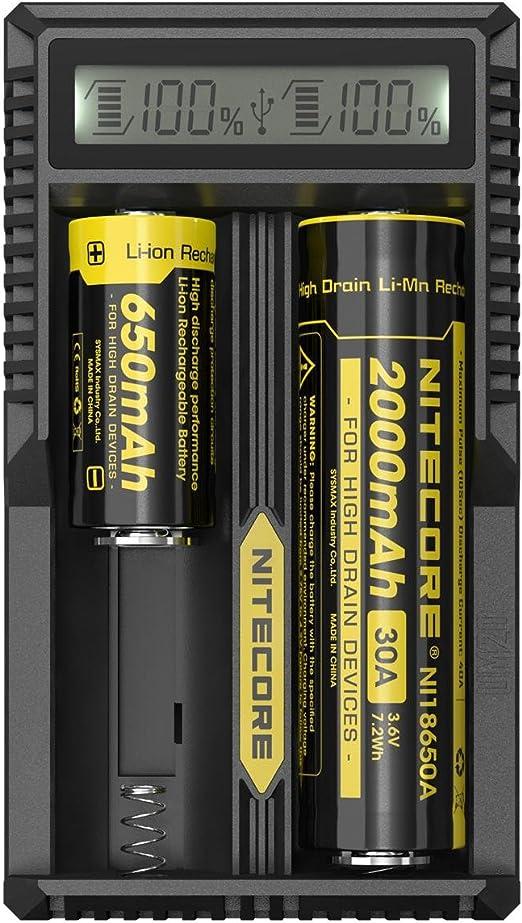 Amazon Com Nitecore Um20 2 Port Usb Battery Charger Sports Outdoors