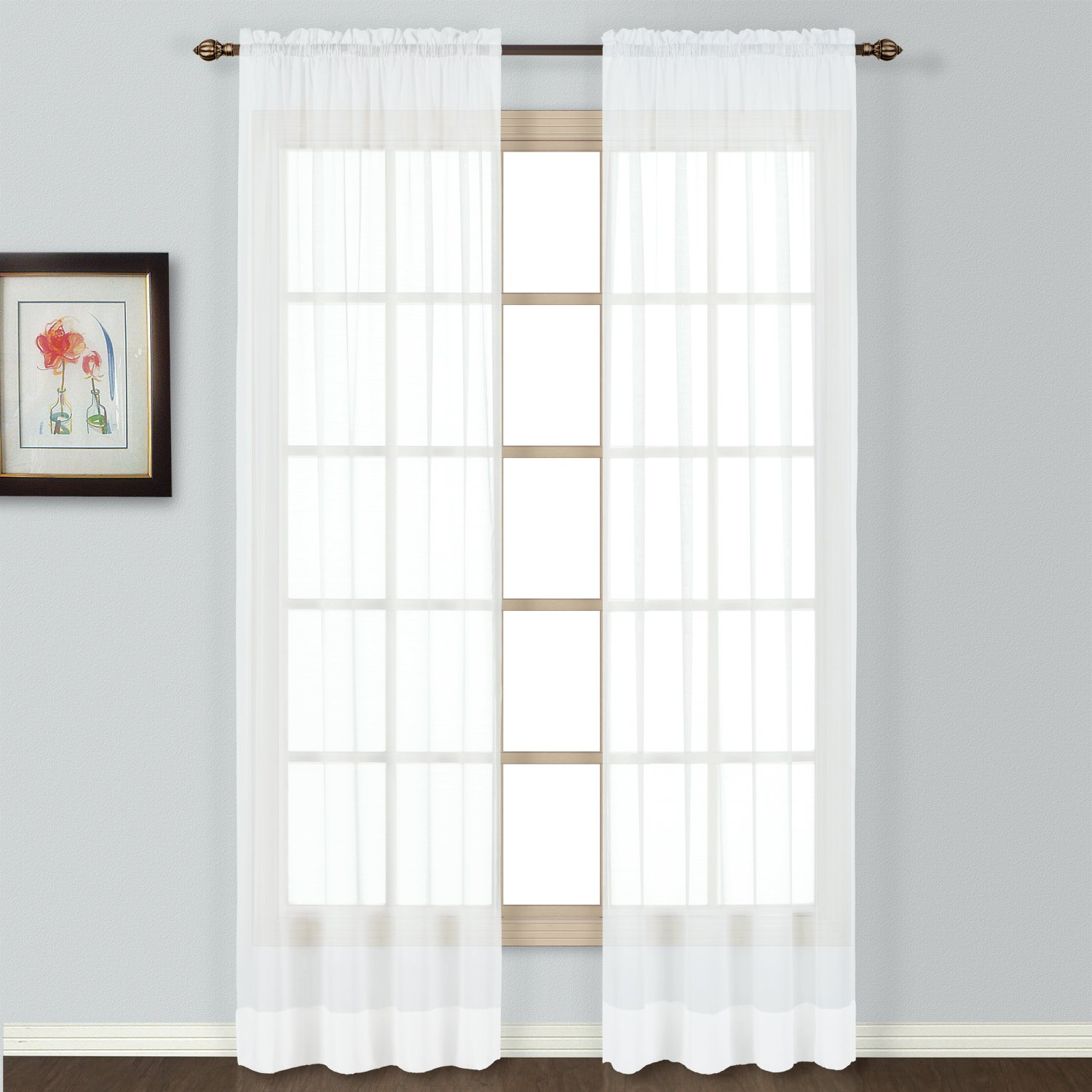 Sheer curtains privacy panel - Amazon Com United Curtain Batiste Semi Sheer Window Curtain Panel 54 By 72 Inch White Home Kitchen