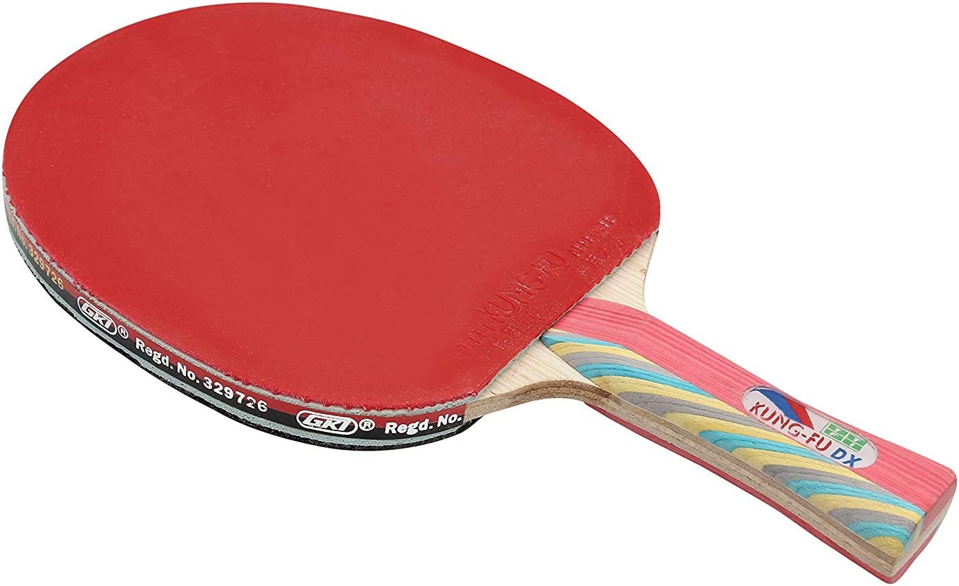 GKI Kung Fu DX Table Tennis Racquet with Printed Cover Comfortable to Grip, : Sports & Outdoors